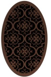 rug #1139519 | oval brown damask rug
