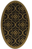 rug #1139523 | oval black traditional rug