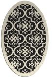 rug #1139527 | oval black traditional rug