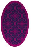 rug #1139539 | oval blue borders rug