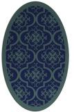 rug #1139543 | oval blue borders rug