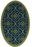 rug #1139547 | oval green borders rug
