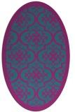 rug #1139583 | oval pink popular rug