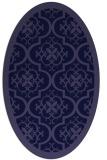rug #1139587 | oval blue-violet damask rug
