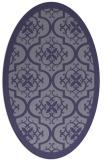 rug #1139591   oval blue-violet borders rug