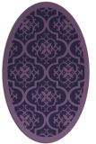 rug #1139599 | oval blue-violet borders rug