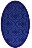 rug #1139603   oval blue-violet borders rug