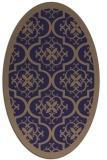 rug #1139607 | oval beige damask rug
