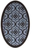 rug #1139614 | oval borders rug