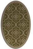 rug #1139615 | oval brown damask rug