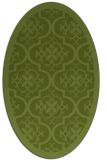 rug #1139627 | oval green borders rug