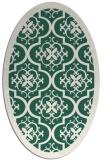 rug #1139635 | oval green borders rug