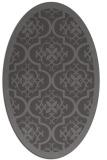 rug #1139655 | oval mid-brown borders rug