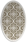rug #1139663 | oval white damask rug