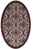 rug #1139667   oval pink damask rug