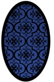 rug #1139703 | oval black borders rug