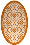 rug #1139716 | oval damask rug