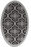 rug #1139723 | oval orange borders rug