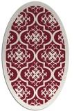 rug #1139731   oval pink borders rug