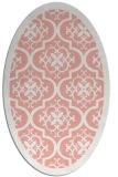 rug #1139739 | oval pink rug