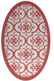 rug #1139742 | oval damask rug