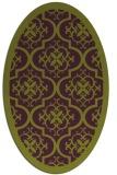 rug #1139747 | oval purple borders rug