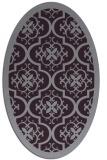 rug #1139755   oval purple damask rug
