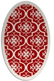 rug #1139759 | oval red damask rug