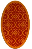 rug #1139763 | oval orange borders rug