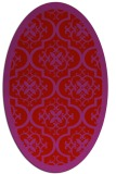 rug #1139771 | oval red damask rug