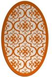 rug #1139787 | oval red-orange rug