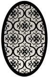 rug #1139791 | oval white damask rug