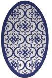 rug #1139799 | oval white traditional rug