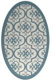 rug #1139811 | oval white borders rug
