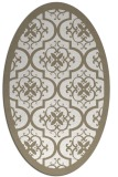 rug #1139815 | oval white traditional rug
