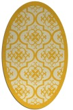 rug #1139819 | oval yellow traditional rug
