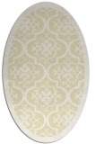 rug #1139823 | oval yellow damask rug