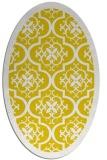 rug #1139827 | oval damask rug
