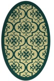 rug #1139835 | oval yellow borders rug