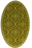 rug #1139839 | oval light-green rug