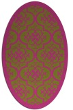 rug #1139847 | oval light-green rug
