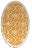 rug #1139867 | oval white borders rug