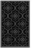 rug #1139879 |  black damask rug