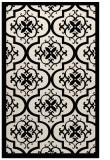 rug #1139931 |  blue-green damask rug