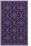 rug #1139967 |  blue-violet damask rug