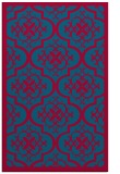 rug #1139991 |  blue-green damask rug