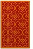 rug #1140131    orange damask rug