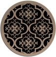 rug #1140251 | round beige damask rug