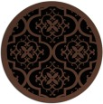 rug #1140255 | round brown damask rug