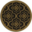 rug #1140259 | round mid-brown traditional rug